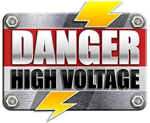 danger high voltage high variance