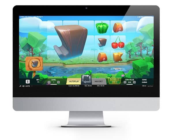 Strolling Staxx: Cubic Fruits netent